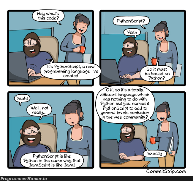 PythonScript | java-memes, python-memes, web-memes, IT-memes, language-memes | ProgrammerHumor.io