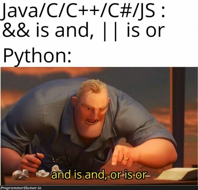 Python takes literally | java-memes, python-memes, c++-memes, c#-memes | ProgrammerHumor.io