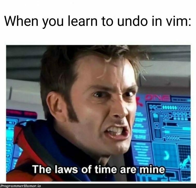 An ambitious crossover with r/doctorwhumour   vim-memes   ProgrammerHumor.io