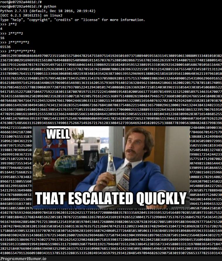 Terminal Overload! | python-memes, linux-memes, ux-memes, terminal-memes, python 2.7-memes, IT-memes | ProgrammerHumor.io