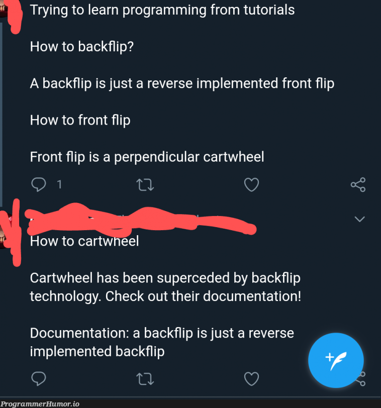 F to everyone who's trying to learn off of crappy documentation   programming-memes, tech-memes, technology-memes, program-memes, try-memes, documentation-memes   ProgrammerHumor.io