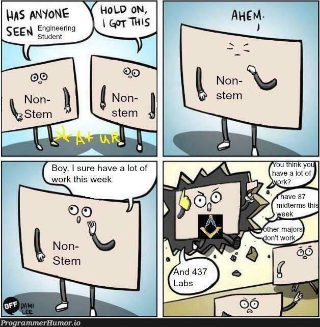 How to find a STEM Major | ProgrammerHumor.io