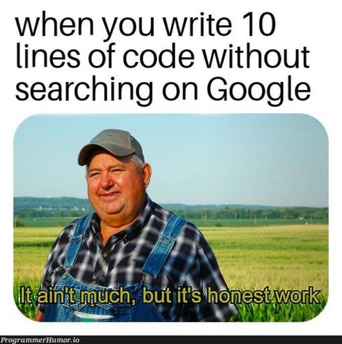 write 10 lines | code-memes, google-memes, lines of code-memes, search-memes | ProgrammerHumor.io