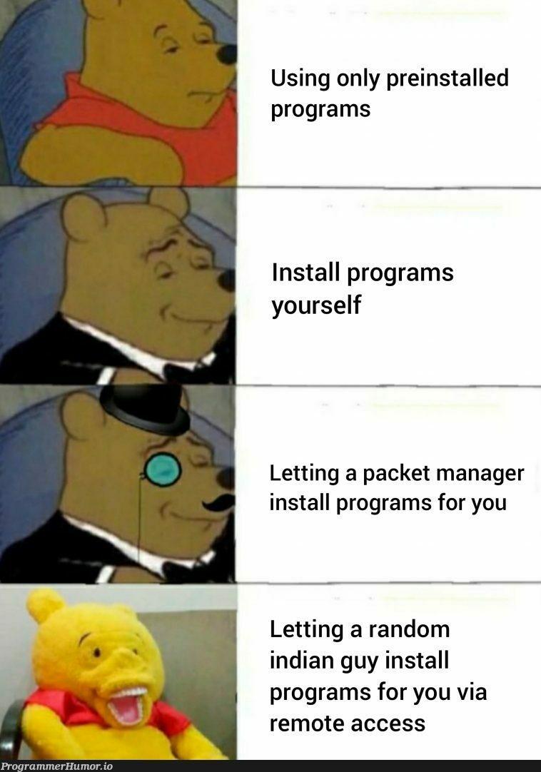 You got a virus!!! *types 'dir' in cmd*   program-memes, random-memes, virus-memes, indian-memes, manager-memes   ProgrammerHumor.io