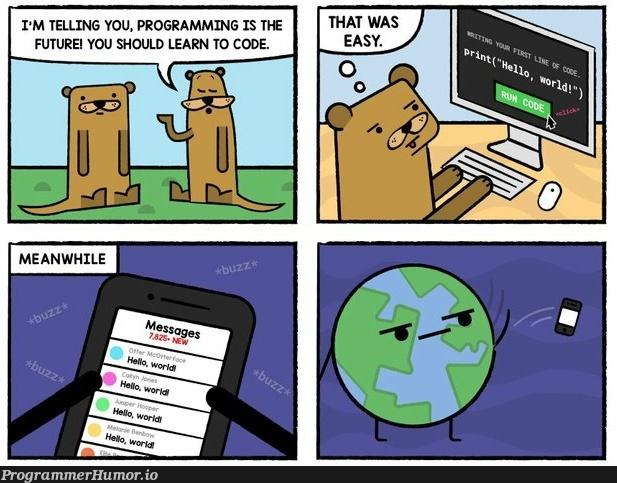 Hello world | programming-memes, code-memes, program-memes | ProgrammerHumor.io