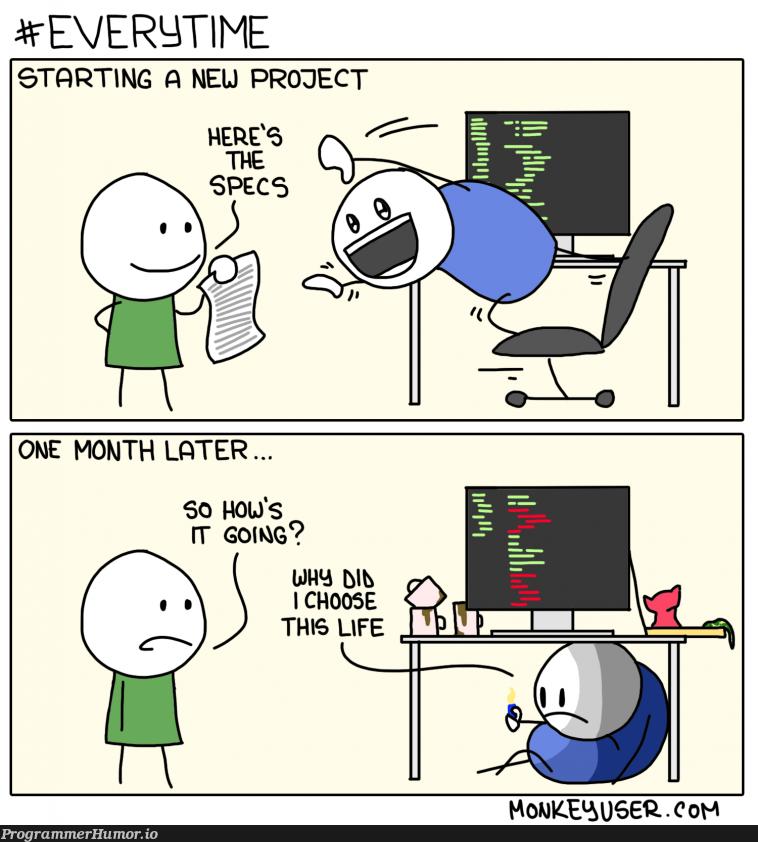 Starting a new project | ProgrammerHumor.io
