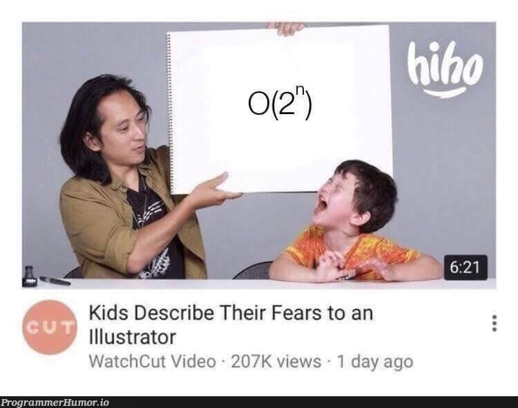 Kids Describe Their Fears To An Illustrator   ide-memes   ProgrammerHumor.io