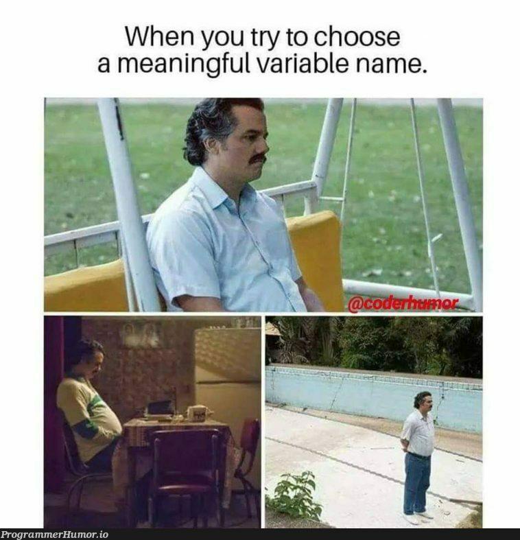 True story!   try-memes, variable name-memes   ProgrammerHumor.io
