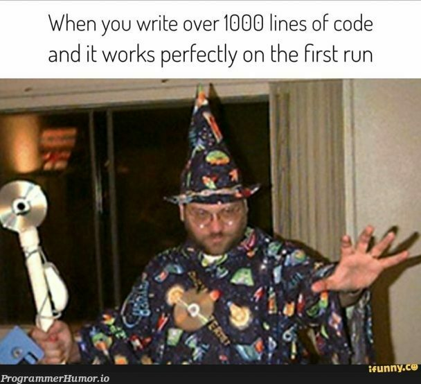 Yer a Wizard   code-memes, lines of code-memes   ProgrammerHumor.io