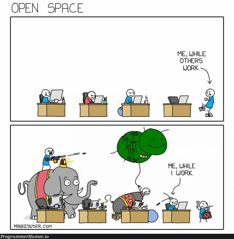 Open space office | space-memes | ProgrammerHumor.io