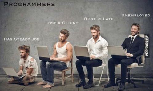 Programmer's employment status | programmer-memes, program-memes | ProgrammerHumor.io