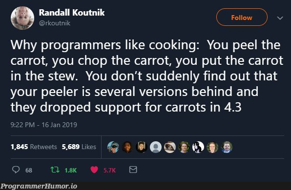 programmers like cooking   programmer-memes, program-memes, version-memes, retweet-memes   ProgrammerHumor.io
