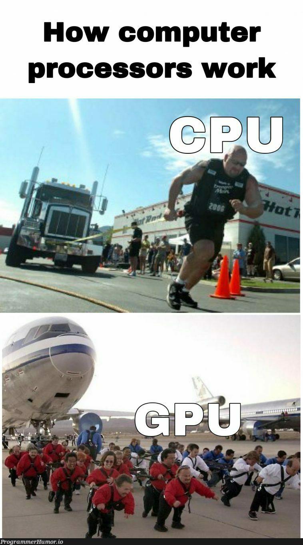 How computer processors work | computer-memes | ProgrammerHumor.io