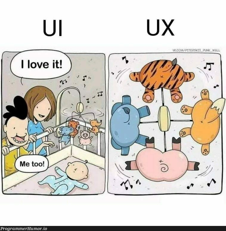 UI vs UX | ux-memes | ProgrammerHumor.io