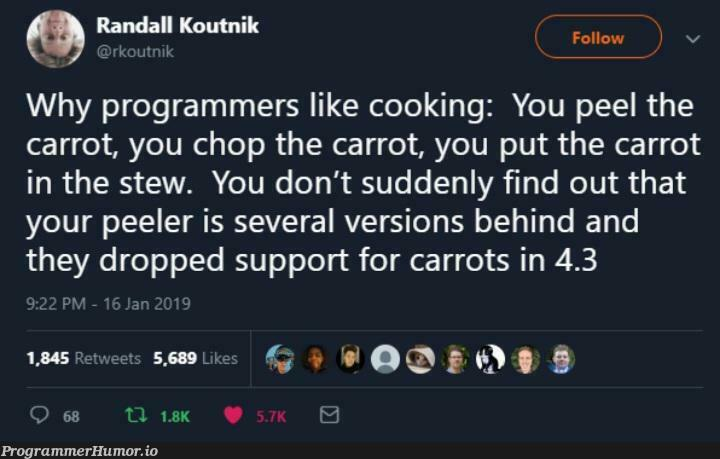 The carrot is a stupid question   programmer-memes, program-memes, version-memes   ProgrammerHumor.io