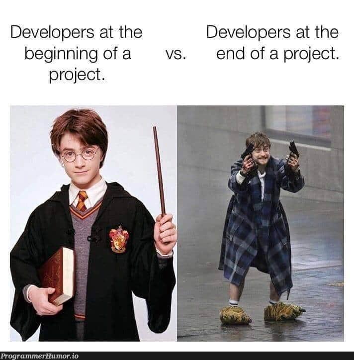 Start and end | developer-memes | ProgrammerHumor.io