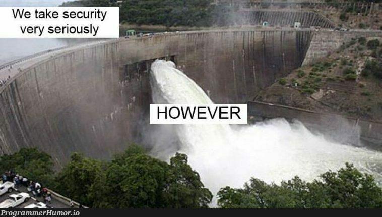 HOWEVER | security-memes | ProgrammerHumor.io