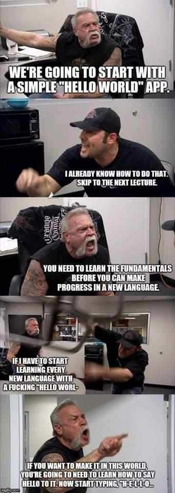 Learning a new language | language-memes | ProgrammerHumor.io