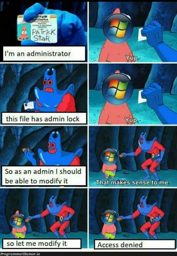 Gotta love Microsoft | loc-memes, lock-memes, microsoft-memes, IT-memes | ProgrammerHumor.io