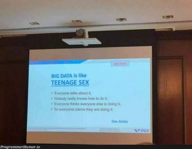 BIG DATA reality.   data-memes, big data-memes   ProgrammerHumor.io