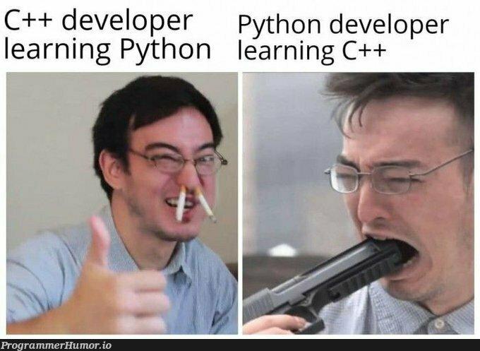 This pain never ends | developer-memes, python-memes, c++-memes | ProgrammerHumor.io