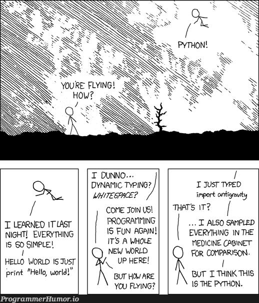 import *antigravity* | python-memes, program-memes | ProgrammerHumor.io