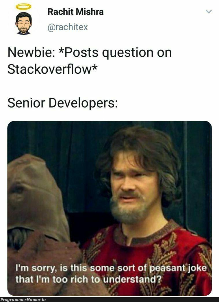 [Marked as Duplicate] | developer-memes, stackoverflow-memes, stack-memes, overflow-memes | ProgrammerHumor.io