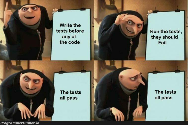 Test Driven Bugvelepment | code-memes, test-memes, bug-memes, tests-memes | ProgrammerHumor.io