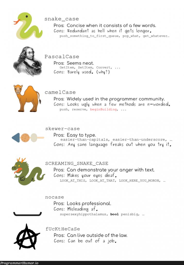 Exploring the world of cases. | programmer-memes, program-memes, api-memes, IT-memes, rds-memes, ide-memes, language-memes | ProgrammerHumor.io