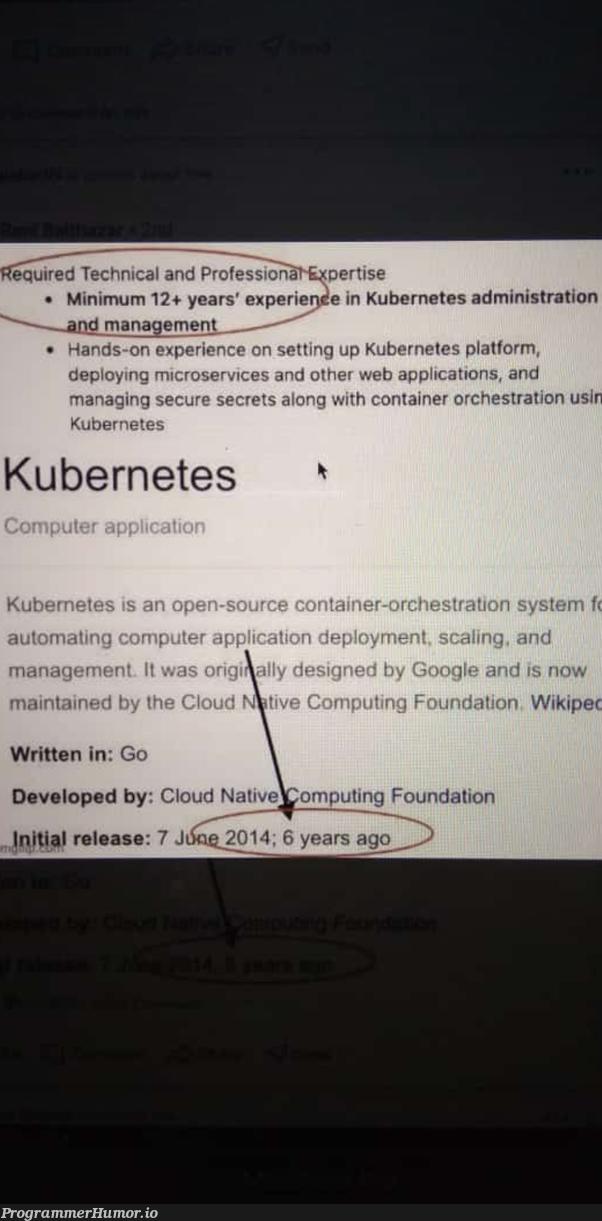 Minimum Requirements not met. | tech-memes, web-memes, management-memes, requirements-memes, cloud-memes, kubernetes-memes, container-memes | ProgrammerHumor.io