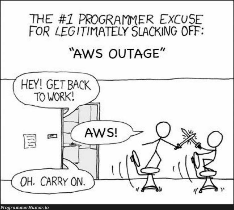 S3 outage   programmer-memes, program-memes, aws-memes, slack-memes, git-memes   ProgrammerHumor.io