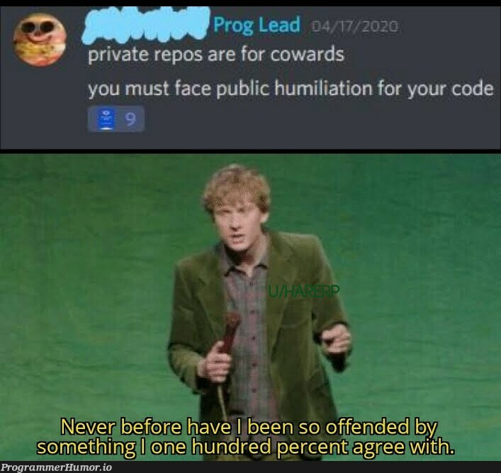Couldn't agree more   code-memes, rds-memes, public-memes, private-memes   ProgrammerHumor.io