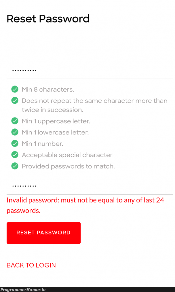 When you really want to torture your users..   password-memes, rds-memes, ide-memes   ProgrammerHumor.io