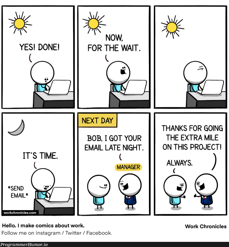 I fixed the bug last night | bug-memes, facebook-memes, email-memes, fix-memes, twitter-memes, cs-memes | ProgrammerHumor.io