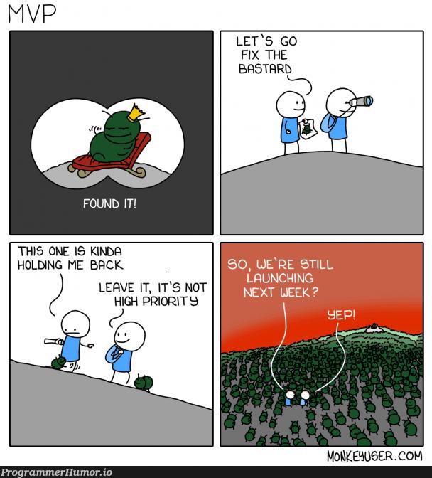 Story of my life - 6 week release cycle   fix-memes, release-memes   ProgrammerHumor.io