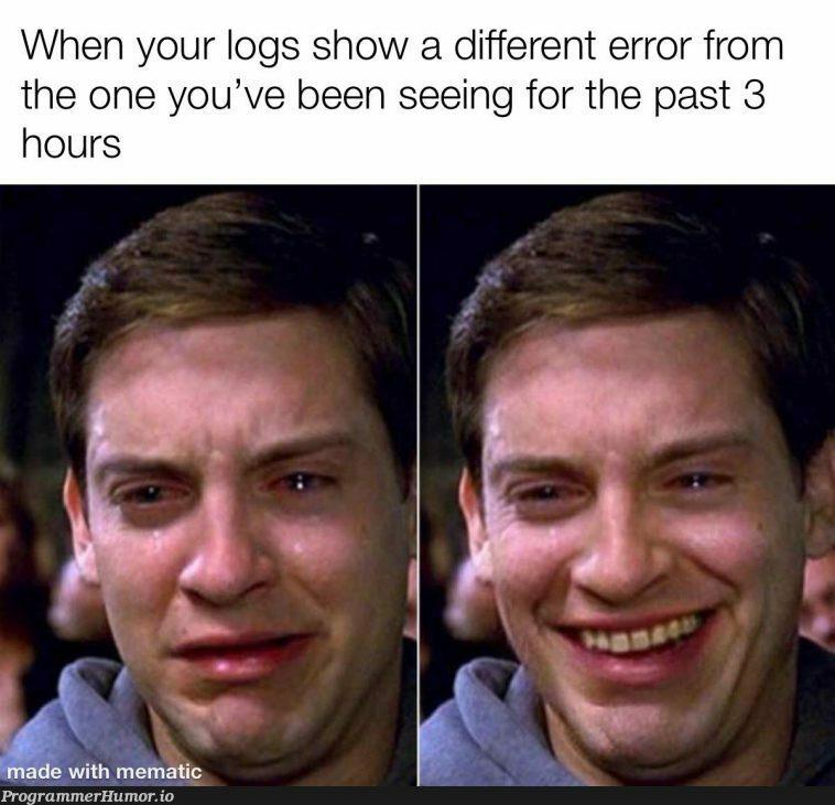 Nothing but pain | error-memes, logs-memes | ProgrammerHumor.io