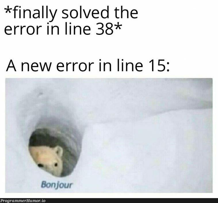 Bonjour ;) | error-memes | ProgrammerHumor.io