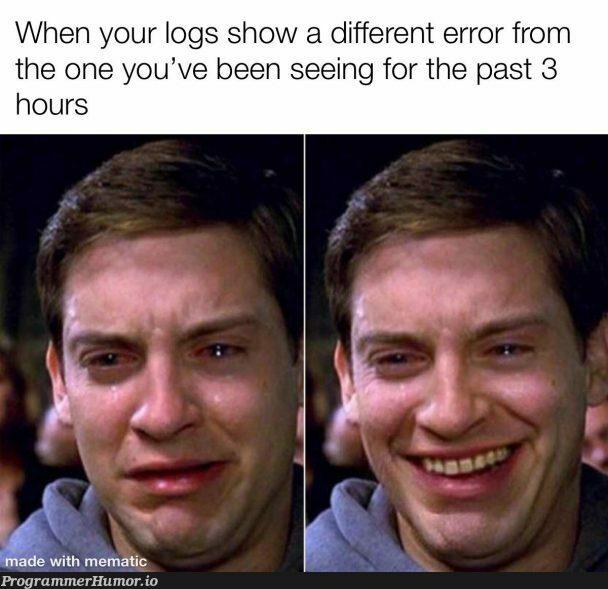 Nothing but pain   error-memes, logs-memes   ProgrammerHumor.io