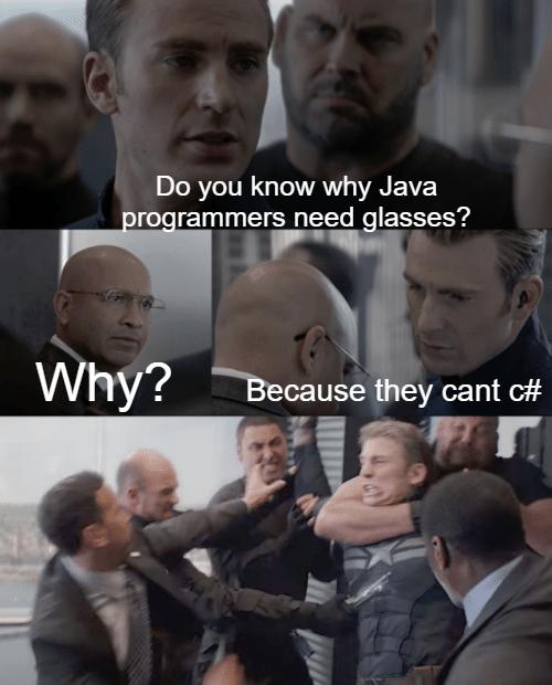 if (!seeSharp) {enhanceVision()} | java-memes | ProgrammerHumor.io
