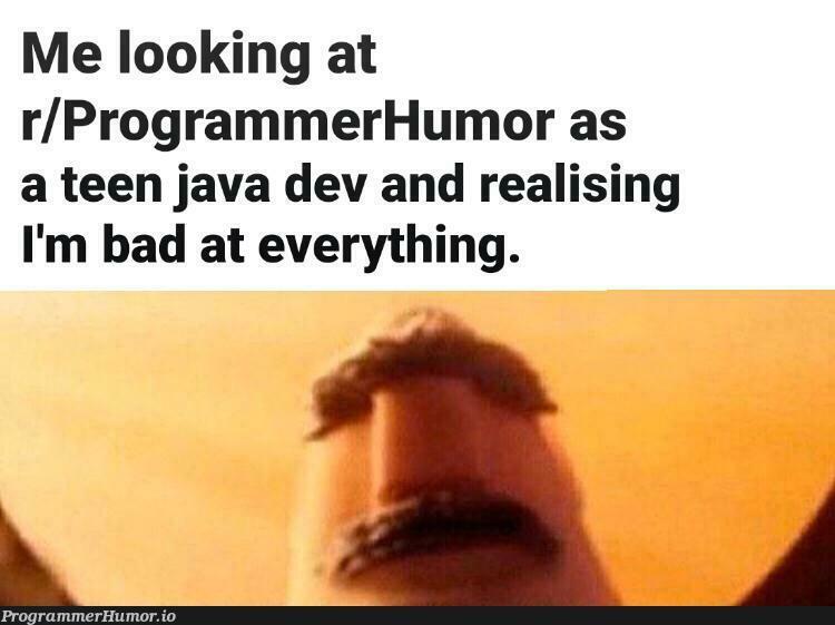 I feel like I, myself, am a joke.   programmer-memes, java-memes, program-memes   ProgrammerHumor.io