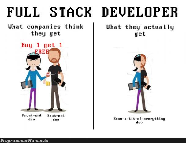 Minimum skills required: PHP, C#, Scala, Ruby, JavaScript, Boostarap 4, CSS 5, Swift, Minimum 20 years experience. $10/hour | developer-memes, css-memes, javascript-memes, php-memes, java-memes, stack-memes, swift-memes, ruby-memes, scala-memes, c#-memes, front-end-memes, back-end-memes, cs-memes, full stack-memes | ProgrammerHumor.io