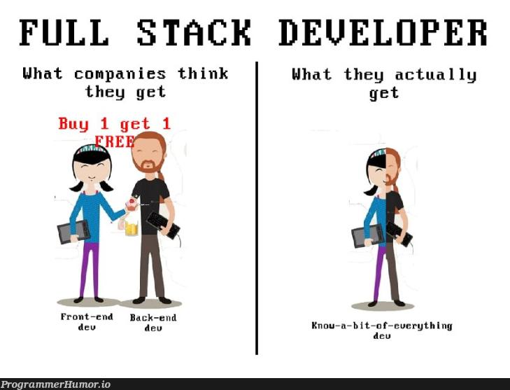 Minimum skills required: PHP, C#, Scala, Ruby, JavaScript, Boostarap 4, CSS 5, Swift, Minimum 20 years experience. $10/hour   developer-memes, css-memes, javascript-memes, php-memes, java-memes, stack-memes, swift-memes, ruby-memes, scala-memes, c#-memes, front-end-memes, back-end-memes, cs-memes, full stack-memes   ProgrammerHumor.io
