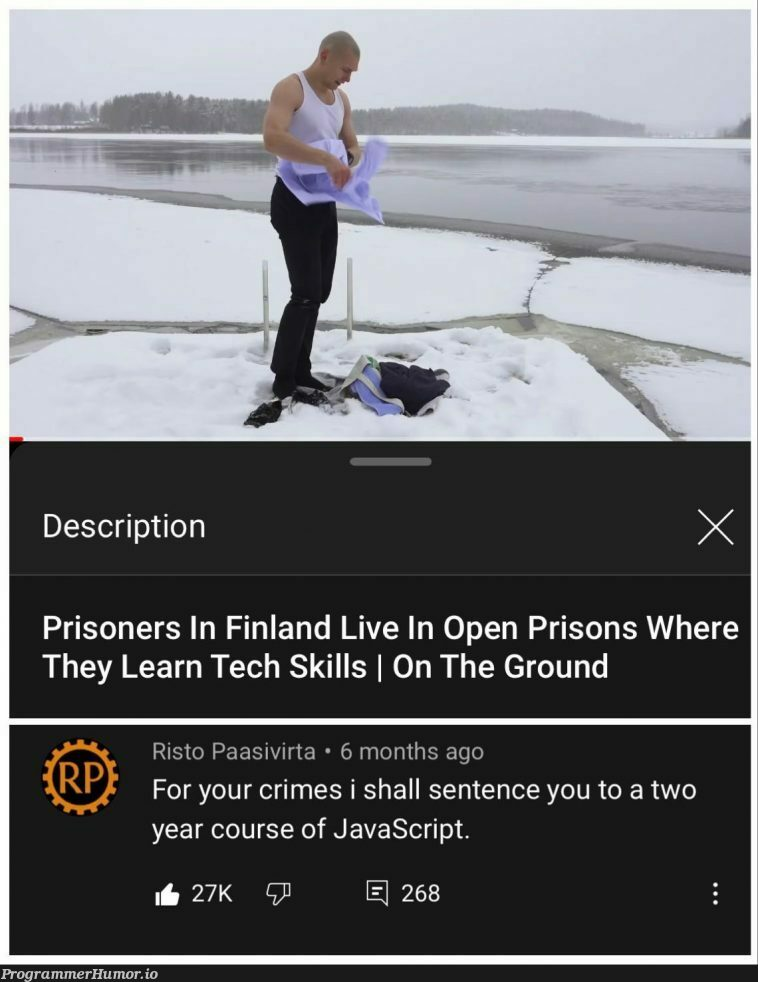 Finland has no regards to human rights | javascript-memes, tech-memes, java-memes, rds-memes | ProgrammerHumor.io
