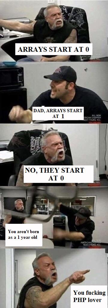 daddy got it right   php-memes, array-memes, arrays-memes, IT-memes   ProgrammerHumor.io
