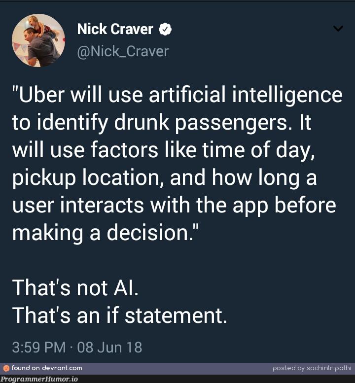 That's not AI.   loc-memes, if statement-memes, IT-memes, ide-memes, artificial intelligence-memes   ProgrammerHumor.io
