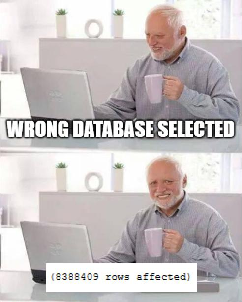 I was wondering why it wasn't inserting... Had to delete them after | IT-memes | ProgrammerHumor.io