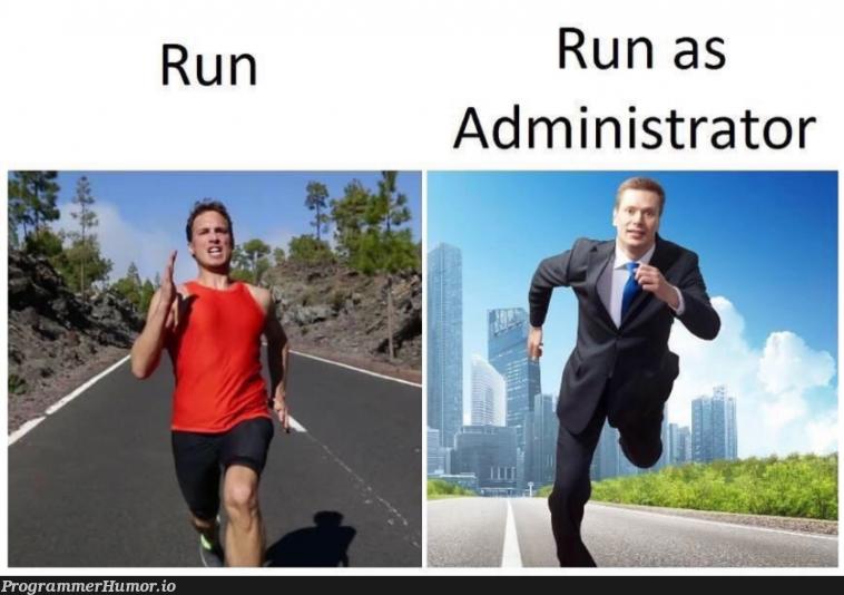 Admin is gentleman   ProgrammerHumor.io
