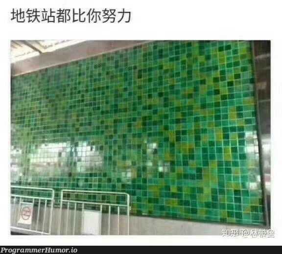 Chinese metro stations work harder than you do.   ProgrammerHumor.io