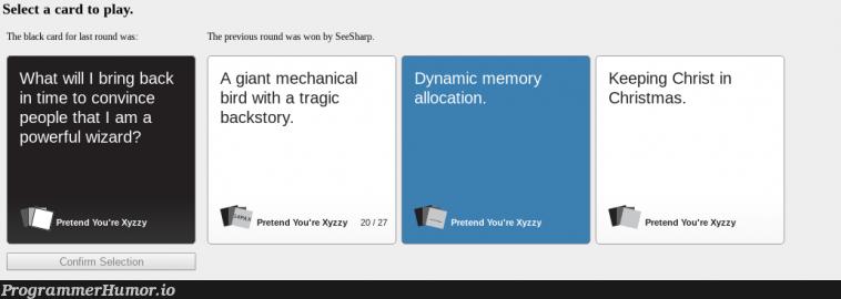 When your friends can appreciate jokes like this   ProgrammerHumor.io