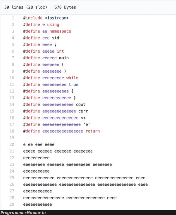eeeeee eeee e eeeee | loc-memes, ios-memes, stream-memes, space-memes | ProgrammerHumor.io